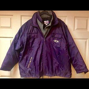 Logo Athletics NFL Baltimore Ravens Coat Jacket.